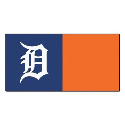 SPORTS LICESNING SOLUTIONS MLB - Detroit Tigers Blue and Orange Nylon 18 in. x 18 in. Carpet Tile (20 Tiles/Case)
