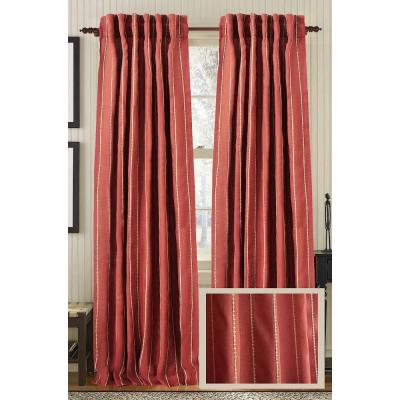 Brick LINEAR Linen Rod Pocket Curtain - 50 in.W x 108 in. L Product Photo