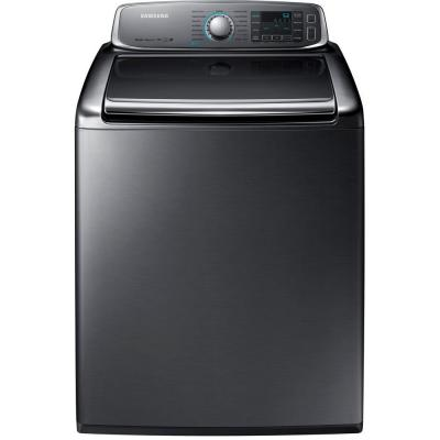 Samsung 5.6 cu. ft. High Efficiency Top Load Washer with Steam in Platinum, ENERGY STAR