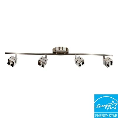 Aspects Multi-Use Cantrell 4-Light Satin Nickel Dimmable Fixed Track Lighting