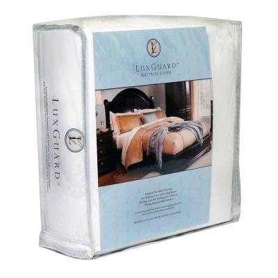 12 in. LuxGuard Bed Bug, Microfiber Dust Mite and Allergen Proof Mattress Protector and Zip Cover Encasement
