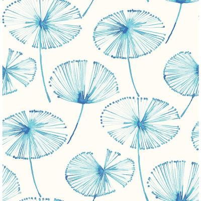 56.4 sq. ft. Paradise Blue Fronds Wallpaper Product Photo