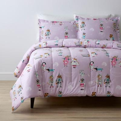 Space Dogs Graphic Organic Cotton Percale Comforter