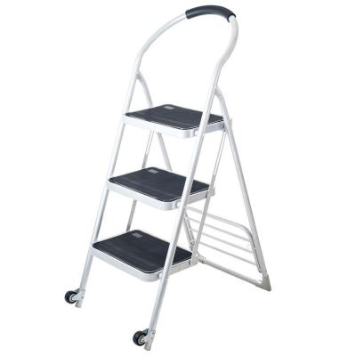 175 lbs. Step Ladder Folding Cart Dolly in White Product Photo