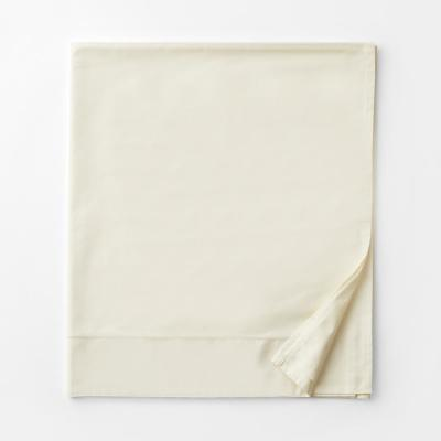 Organic Solid 300-Thread Count Cotton Sateen Flat Sheet