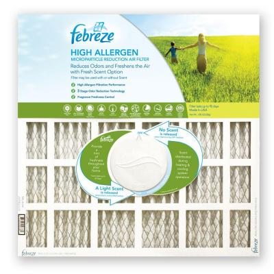 null 14 in. x 20 in. x 1 in. High Allergen Microparticle/Odor Reduction Air Filter (4-Pack)-DISCONTINUED