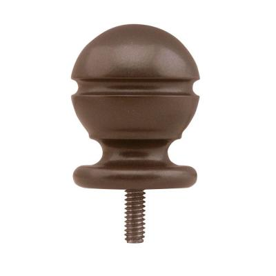 Quiet Glide 1-1/2 in. x 1-1/2 in. Decorative Oil Rubbed Bronze Ball Rail End Stop