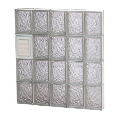 28.75 in. x 31 in. x 3.125 in. Ice Pattern Glass Block Window with Dryer Vent Product Photo