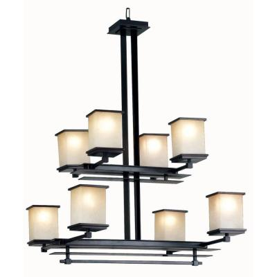 Kenroy Home Plateau 8-Light Oil Rubbed Bronze Chandelier 90384ORB