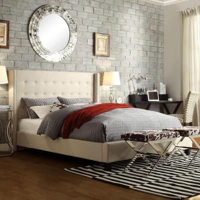 HomeSullivan Franklin Park Beige Queen Upholstered Bed