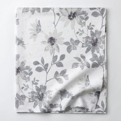 Patio Floral Linen Flat Sheet