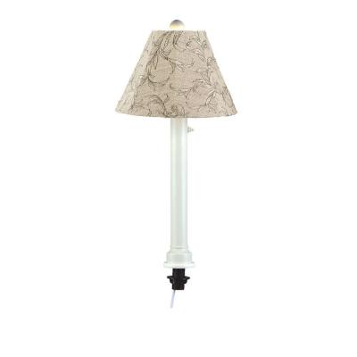 Patio Living Concepts Catalina 28 in. White Umbrella Outdoor Table Lamp with Bessmer Shade