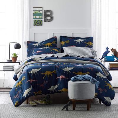 Skeleton Dino Graphic Cotton Percale Comforter