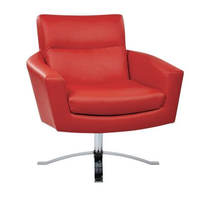 Faux Leather Nova Arm Chair in Red