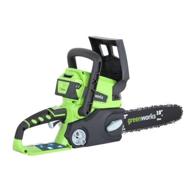 Green Works 10 in. 24-Volt Lithium-Ion Cordless Electric Chainsaw-DISCONTINUED