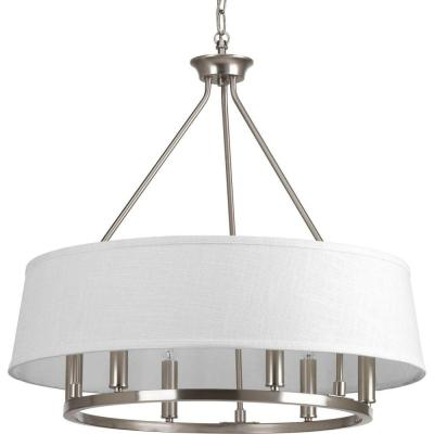 Cherish Collection 6-Light Brushed Nickel Chandelier