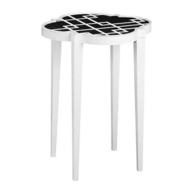 Home Decorators Collection 24 in. H Loft Black Patterned Accent Table