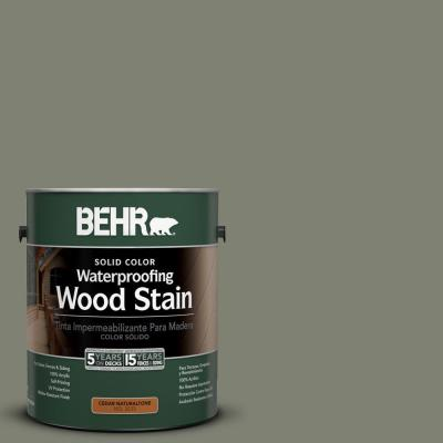 BEHR 1-gal. #SC-137 Drift Gray Solid Color Waterproofing Wood Stain