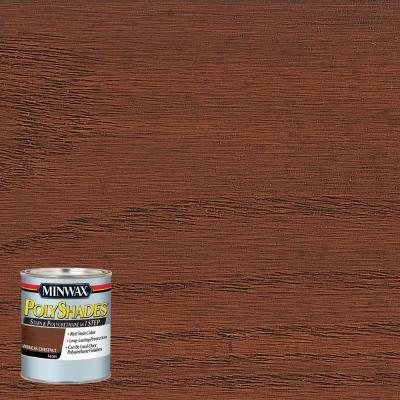 8 oz. PolyShades American Chestnut Gloss Stain and Polyurethane in 1-Step