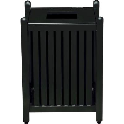 Spring Arbor 32 Gal. Textured Black Contract Trash Can with Liner