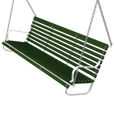 Ivy Terrace 60 in. White and Green Patio Swing-DISCONTINUED