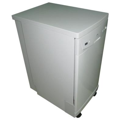 SPT 18 in. Front Control Portable Dishwasher in White with Energy Star-DISCONTINUED