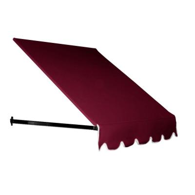 AWNTECH 6 ft. Dallas Retro Awning (18 in. H x 36 in. D) in Burgundy for Low Eaves