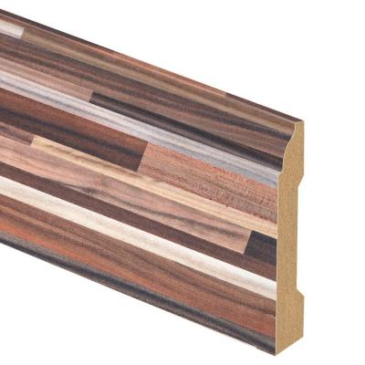 Random Block Plum 9/16 in. Thick x 3-1/4 in. Wide x 94 in. Length Laminate Base Molding Product Photo