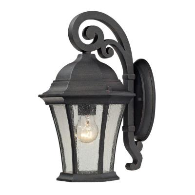 Titan Lighting Wellington Park 1-Light Outdoor Weathered Charcoal Sconce
