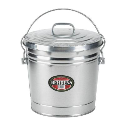 Behrens 6 gal. Galvanized Steel Round Trash Can with Locking Lid