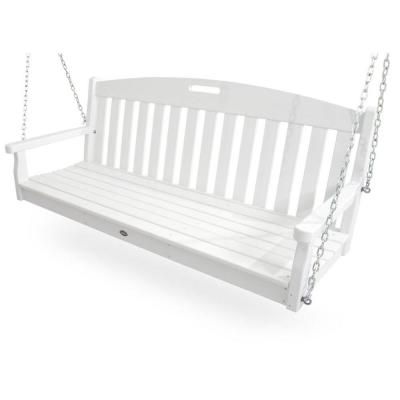 Trex Outdoor Furniture Yacht Club Classic White Patio Swing Txs60cw The Home Depot