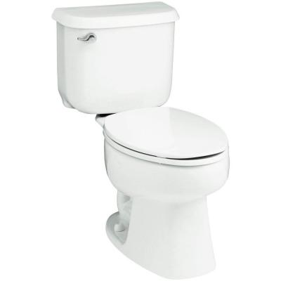 STERLING Windham 10 in. Rough-In 2-piece 1.6 GPF Single Flush Elongated Toilet in White