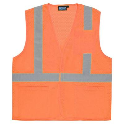 3X S362P Class 2 Mesh Economy Vest with Pockets, Hook and