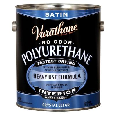 1 gal. Clear Satin Water-Based Interior Polyurethane