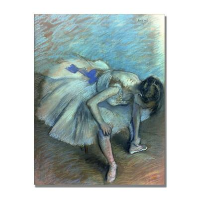 24 in. x 32 in. Seated Dancer Canvas Art