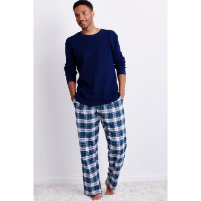 Family Flannel Men's Holden Plaid 2-Piece Thermal Pajama Set