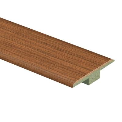 Gunstock Oak 7/16 in. Thick x 1-3/4 in. Wide x 72 in. Length Laminate T-Molding Product Photo