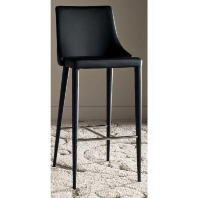 Summerset Leather Bar Stool in Black