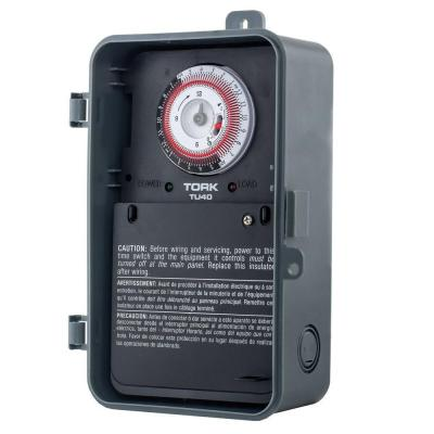 TORK 40-Amp Universal Multi-Voltage 24 Hour Mechanical Time Switch