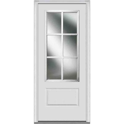 36 in. x 80 in. Simulated Divided Lite Clear Glass 3/4