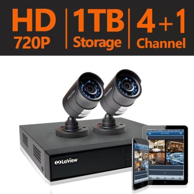 4-Channel 1TB HDD Indoor/Outdoor Day Night Surveillance System and (2) HD