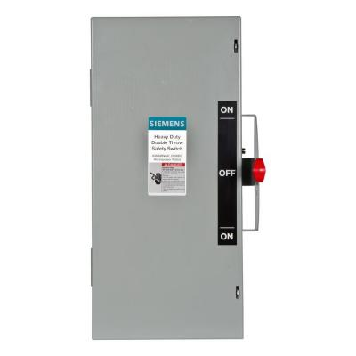 Double Throw 60 Amp 600-Volt 3-Pole Indoor Non-Fusible Safety Switch Product Photo