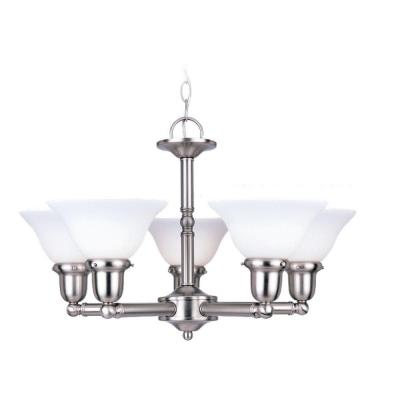 Sea Gull Lighting Sussex 5-Light Brushed Nickel Single Tier Chandelier 31061-962