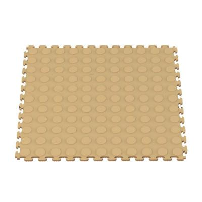 Norsk-Stor Multi-Purpose 18.3 in. x 18.3 in. Beige PVC Garage Flooring Tile with Raised Coin Pattern (6-Pieces)