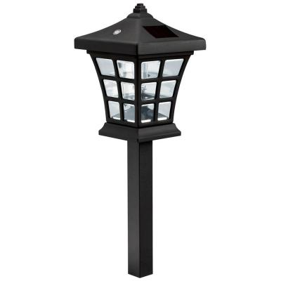 Venture 1-Light Black Solar Path Light Product Photo
