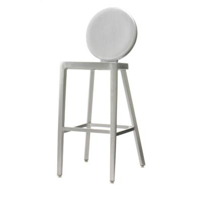 Home Decorators Collection Samantha 46.5 in. H Brush Aluminum Bar Stool