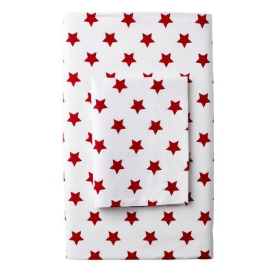 Stars 200-Thread Count Cotton Percale Flat Sheet