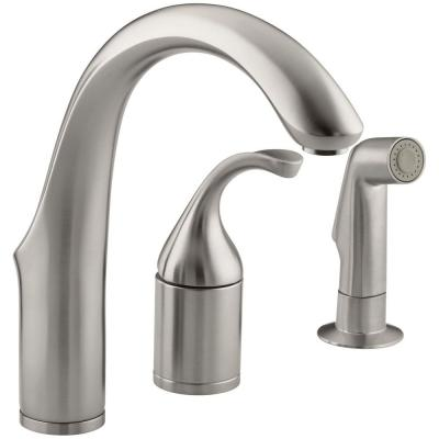Forte Single Handle Side Sprayer Bar Faucet in Vibrant Stainless Steel