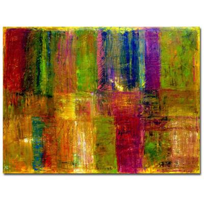 Trademark Fine Art 47 in. x 35 in. Color Panel Abstract Canvas Art