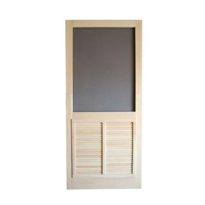 Ponderosa Wood Unfinished Hinged Screen Door